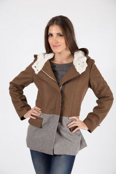 HOODED LUXE PARKA R - Large hooded design - Concealed zip through front - High neckline with press stud fastening - Faux fur lining Parka, Faux Fur, Hoods, Neckline, Zip, Blouse, Coat, Sweaters, Jackets