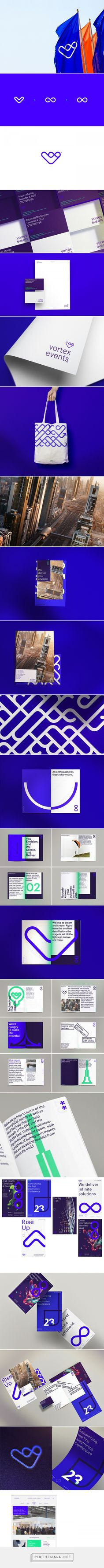 Vortex events® on Behance. - a grouped images picture - Pin Them All Branding And Packaging, Event Branding, Logo Branding, Corporate Id, Corporate Design, Business Design, Brand Identity Design, Branding Design, Web Design Mobile
