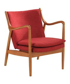 Another great find on #zulily! Red Shakespeare Accent Chair #zulilyfinds