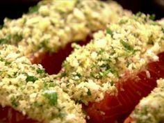 Panko-Crusted Salmon Recipe : Ina Garten : Food Network - just baked it. Panko Crusted Salmon Recipe, Salmon Panko, Baked Salmon, Parmesan Crusted, Dijon Salmon, Roasted Salmon, Salmon Fillets, Fish Dishes, Seafood Dishes