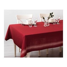 VINTER 2016 Tablecloth IKEA Cotton/linen blend with the softness of cotton and the matte luster and firmness of linen.