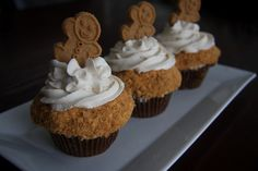 Gingerbread Latte Cupcakes, yum!