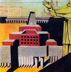 """ALDO ROSSI, """"SOME OF MY PROJECTS WITH A FIGURE OF A SAINT"""", 1972"""