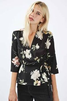 Image result for wrap blouse