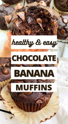 OMG! These are the BEST healthy chocolate peanut banana muffins EVER! I love that this recipe is made with clean ingredients and the peanut butter flavor. They come out perfect and moist every time! My kids are obsessed with them and so am I! #muffins #chocolatemuffins