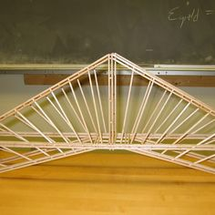 Building a bridge from balsa wood is such a popular educational activity that there are competitive contests for building model bridges. A balsa wood bridge-building project touches on principles of . Woodworking Kit For Kids, Woodworking Workshop, Custom Woodworking, Paper Bridge, Wood Bridge, Steel Bridge, Bridge Model, Roof Trusses, Small Wood Projects