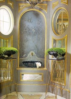 Look at this bathroom....Picture of Elegance Blog: Dorothy Draper