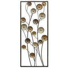 Stratton Home Decor Small Blooms Panel Metal Wall Decor ($50) ❤ liked on Polyvore featuring home, home decor, wall art, multicolor, flower wall art, flower home decor, blossom wall art, colorful home decor and metal wall art