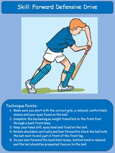 Cricket technique cards - From batting to fielding, these cards cover all the basic cricket skills. Thats how its done......