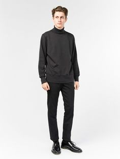 Our Legacy Turtle Neck Sweat Washed black £115