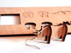 My Design Makes Flat-Pack Plywood Earrings You Assemble Yourself