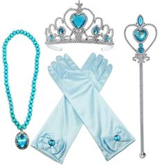 Alead Princess Elsa Dress Up Party Accessories et Gloves, Tiara, Wand And Necklace, Lake Blue, 4 Piece ** Learn more by visiting the image link. (This is an affiliate link) Princess Toys, Princess Costumes, Party Accessories, Costume Accessories, Hair Accessories, Butterfly Party Costume, Princess Elsa Dress, Party Kleidung, Presents For Girls