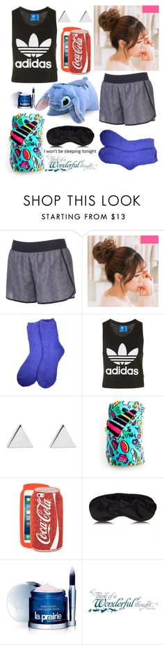 """Secret Night Kiss"" by pineapple0121 ❤ liked on Polyvore featuring Tek Gear, Topshop, Jennifer Meyer Jewelry, Skinnydip, La Prairie and York Wallcoverings"