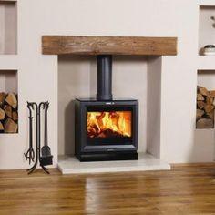 Ideas wood burning stove storage log burner for 2020 Wood, House, Home, Farmhouse Dining Room, Oak Fireplace, Wood Burner Fireplace, New Homes, Fireplace, Wood Burning Fireplace