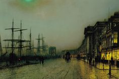 Page: Canny Glasgow Artist: John Atkinson Grimshaw Completion Date: 1887 Place of Creation: United Kingdom Style: Impressionism Genre: cityscape Dimensions: 61 x cm Impressionism, Sale Artwork, Fine Art, Cityscape, Atkinson Grimshaw, Painting, Art, English Art, Art Wallpaper