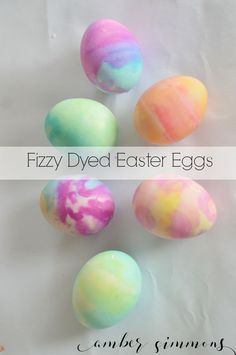 This Homemade Fizzy Easter Egg Dye is a hit with kids and grown ups alike.