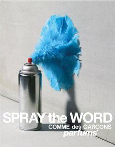 Direct mail proposal Comme des Garçons 2 'Spray the word' campaign Design consulting © puig.com and comme-des-garcons-parfum.com