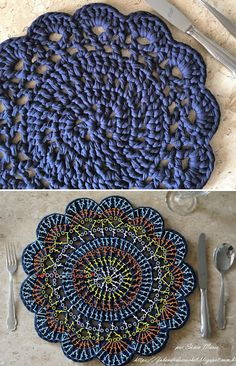 Ralph Lauren Crochet Halter To Crochet Doily Rug, Crochet Placemats, Crochet Circles, Crochet Potholders, Crochet Home, Knit Crochet, Pinterest Crochet, Crochet Decoration, Crochet Diagram