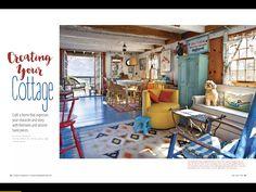 Wunderschön  Aus Cottages & Bungalows June-July 2016 Cottages And Bungalows, June, Room, Crafts, Furniture, Home Decor, Magazines, Homes, Nice Asses