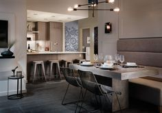 The Heatley At Strathcona Village Dining New Construction, Kitchen Dining, Table, Furniture, Home Decor, Kitchen Dining Living, Decoration Home, Room Decor, Home Furniture