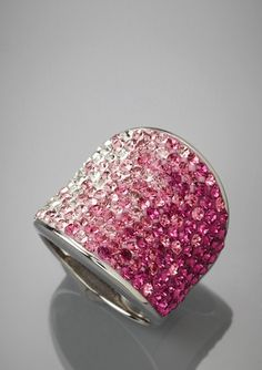 TAYLOR BY CHELSEA TAYLOR Concave Swarovski Crystal Ring
