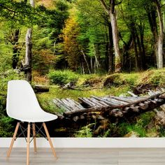 Sea of Trees Forest Mural Wallpaper, custom made to suit your wall size by the UK's No.1 for wall murals. Custom design service and express delivery available.