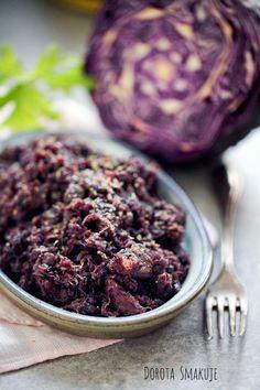 Czerwona kapusta smażona #Fried #red #cabbage Red Cabbage, Fries, Vegetables, Food, Purple Cabbage, Essen, Vegetable Recipes, Meals, Yemek