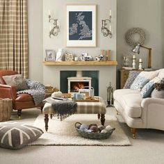 like accent colors with similar color sofa and chair in our family room