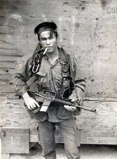 MACV-SOG Montagnard team member 1969 ~ Vietnam War