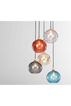 Ilaria Cluster Light, Multi Coloured Glass and Brass Hall Lighting, Kitchen Pendant Lighting, Kitchen Pendants, Glass Pendant Light, Kitchen Fixtures, Dining Room Lighting, Glass Kitchen, Interior Lighting, Multi Light Pendant
