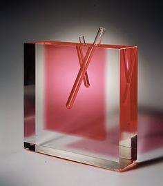 Flower Vase #3 / Shiro Kuramata / 1989 / acrylic, glass