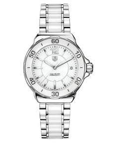 TAG Heuer, Women's Formula 1  my next ceramic watch, cause really cool w/ stainless too!
