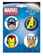 Avengers Four Button Set 1