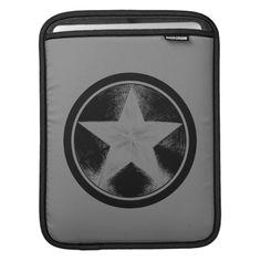 Shop Captain America Grunge Shield Sleeve For iPads created by avengersclassics. Captain America Logo, Emoji Patterns, Shield Logo, Star Logo, Ipad Sleeve, Electronic Devices, Ipads, Superhero Logos, Cover Design