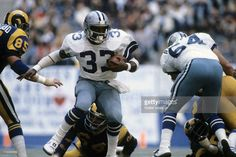 Tony Dorsett - which way did  he go, he was just in front of me, then he impossibly move the other way, now he's behind me - how'd he get there?