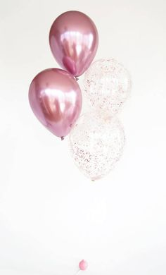 Pink metallic balloons with pink glitter confetti balloons Mauve pink potassium dichromate balloons Ballons Brilliantes, Glitter Ballons, Metallic Balloons, Gold Confetti Balloons, Glitter Confetti, Pink Balloons, Pink Glitter, Latex Balloons, Metallic Pink