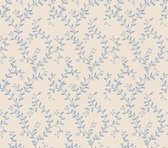 Leafberry Blue wallpaper by Colefax and Fowler