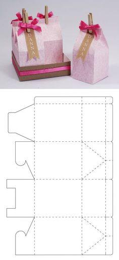 Package of milk, milk packaging present, gift Package of milk, milk packaging present, gift Diy Gift Box, Diy Gifts, Diy Paper, Paper Crafts, Diy And Crafts, Crafts For Kids, Milk Box, Gift Wraping, Printable Box