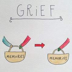 These Illustrations Totally Nail How Difficult The Grief Process Is Mari Andrew, Thought Pictures, Grief Support, Verbatim, School Psychology, Self Help, Wisdom, Positivity, Memories