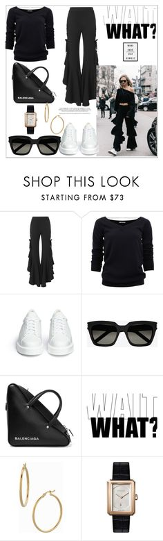 """WAIT, What..."" by nfabjoy ❤ liked on Polyvore featuring Jonathan Simkhai, Brunello Cucinelli, Robert Clergerie, Yves Saint Laurent, Balenciaga, Bony Levy and Chanel"