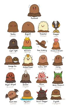 Diglett Variations by HappyCrumble on DeviantArt