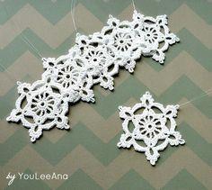 All White Snowflakes Crochet Ornaments