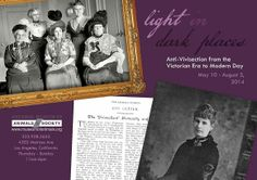 """""""Light in Dark Places: Anti-Vivisection from the Victorian Era to Modern Day"""" featuring material from NEAVS' more than 100-year-old archives"""