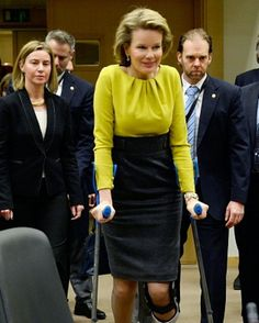 Royal Family Around the World: Queen Mathilde of Belgium attend a conference on Ebola on March 3, 2015 in Brussels