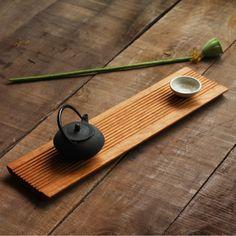 感恩熹工房原创设计实木茶道素琴美国黑胡桃樱桃木干泡茶盘茶道-淘宝网