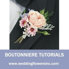 Free flower design recipes and step by step tutorials for wedding flowers.  Learn how to make bridal bouquets, wedding corsages, groom boutonnieres, church decorations, pew ends and reception centerpieces.