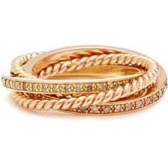 Pave and Twist Rolling Ring | Moda Operandi ❤ liked on Polyvore featuring jewelry, rings, twist jewelry, roll ring, twist rings, pave ring and pave jewelry