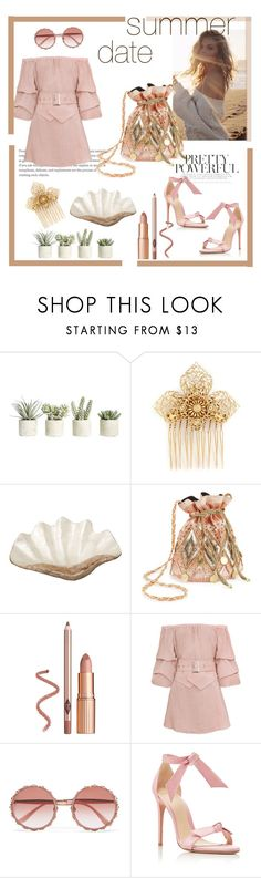 """""""Summer date"""" by irchikld ❤ liked on Polyvore featuring Allstate Floral, Miriam Haskell, Pearl Dragon, Miss Selfridge, Dolce&Gabbana and Alexandre Birman"""