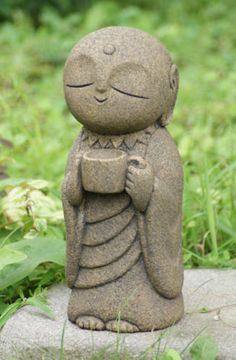 Japon-Collection-Healing-Ksitigarbha-made-of-Granite-Jizo-H-30-cm