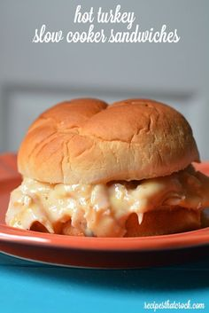 Hot Turkey Sandwiches - Crock Pot Recipe